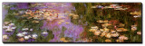 Water Lilies I Stretched Canvas Print by Claude Monet