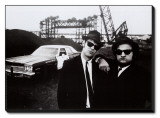 Blues Brothers Stretched Canvas Print
