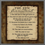 The Ten Commandments Framed Canvas Print by Jennifer Pugh