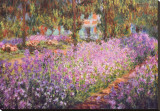 The Artist&#39;s Garden at Giverny, c.1900 Stretched Canvas Print by Claude Monet