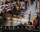Bill Rodgers: Relentless Stretched Canvas Print by Dick Raphael