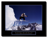 Persistence: Snowboarder Stretched Canvas Print