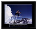 Persistence: Snowboarder Framed Canvas Print
