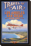 Travel by Air Stretched Canvas Print by Kerne Erickson