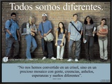 Todos Somos Diferentes- We're All Different Framed Canvas Print