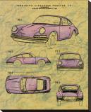 Porsche Patent Stretched Canvas Print