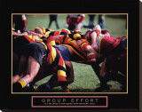 Group Effort: Rugby Stretched Canvas Print