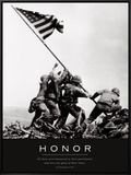 Honor: Iwo Jima Framed Canvas Print