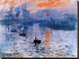 Impression, Sunrise, c.1872 Stretched Canvas Print by Claude Monet