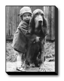 Girl's Best Friend Stretched Canvas Print
