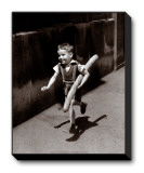 Petit Parisien Stretched Canvas Print by Willy Ronis