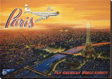 Over Paris Stretched Canvas Print by Kerne Erickson