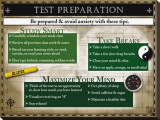 Test Preparation Stretched Canvas Print