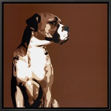 Boxer Framed Canvas Print by Emily Burrowes