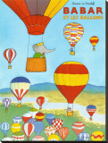 Babar et les ballons Stretched Canvas Print by Laurent de Brunhoff