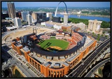 Busch Stadium Framed Canvas Print by Mike Smith