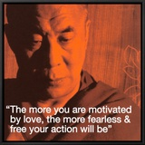 Dalai Lama: Fearless &amp; Free Framed Canvas Print