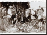Tour de France, Drinkers Stretched Canvas Print