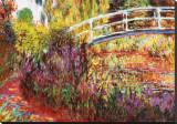 De Japanse brug Kunstdruk op gespannen doek van Claude Monet