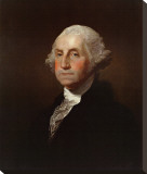 George Washington Stretched Canvas Print by Gilbert Stuart