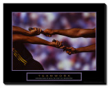 Teamwork Stretched Canvas Print