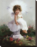 Baby Angel II Stretched Canvas Print by Joyce Birkenstock
