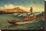 Waikiki Stretched Canvas Print by Kerne Erickson