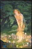 Tarde em meados do verão, cerca de 1908 Impressão em tela emoldurada por Edward Robert Hughes