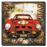 Ferrari Framed Canvas Print by Sergio Lombardino