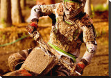 Drive: Motocross Stretched Canvas Print by Jerry Angelica