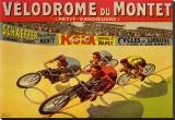 Velódromo de Montet, em francês Impressão em tela esticada por Marcellin Auzolle