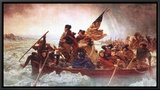 Washington Crossing the Delaware, c.1851 Framed Canvas Print by Emanuel Leutze