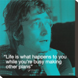 John Lennon: Life Stretched Canvas Print