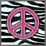 Zebra Peace Framed Canvas Print by Louise Carey