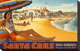 Visit Santa Cruz Stretched Canvas Print by Kerne Erickson