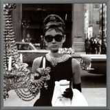 Audrey Hepburn Framed Canvas Print