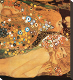 Water Serpents II, c.1907 (detail) Stretched Canvas Print by Gustav Klimt