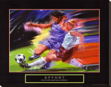 Effort: Soccer Stretched Canvas Print by Bill Hall
