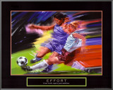 Effort: Soccer Framed Canvas Print by Bill Hall
