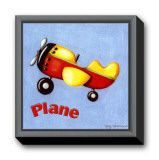 Plane Framed Canvas Print by Kathy Middlebrook