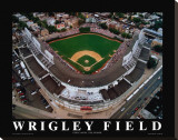 Wrigley Field - Chicago, Illinois Stretched Canvas Print by Mike Smith