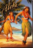 Aloha Reproducción en lienzo de la lámina por Kerne Erickson