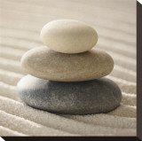 Pile of Pebbles Stretched Canvas Print by Gregor Schuster