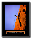 Determination: Climber Framed Canvas Print
