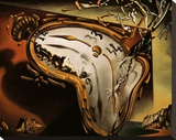 Soft Watch at the Moment of First Explosion, c.1954 Stretched Canvas Print by Salvador Dalí