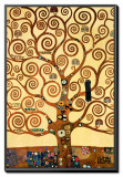 The Tree of Life, Stoclet Frieze, c.1909 Framed Canvas Print by Gustav Klimt