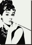 Audrey Hepburn: piteira Impressão em tela esticada