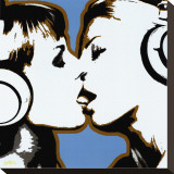 The Kiss Stretched Canvas Print by  Steez