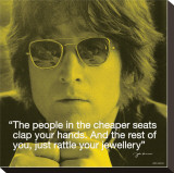 John Lennon: Clap Your Hands Stretched Canvas Print