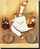 Chef To Go Stretched Canvas Print by Jennifer Garant